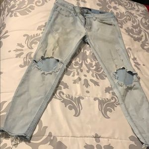 Light blue Pacsun Ripped Jeans